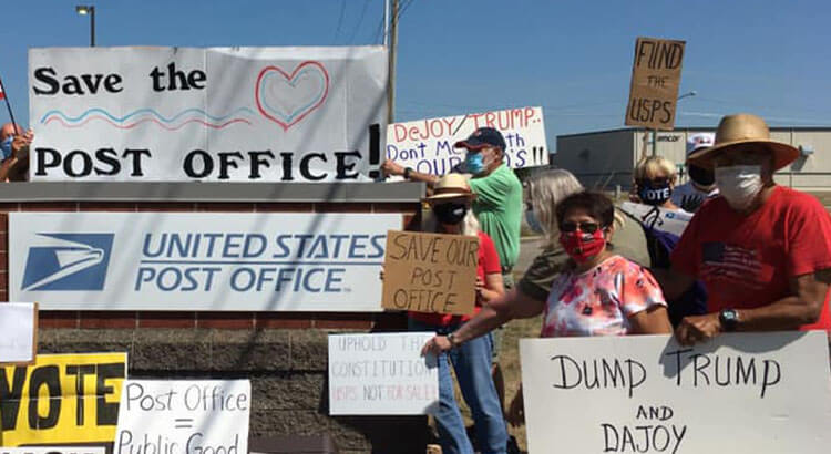 Save The Post Office Rally Held In Fremont