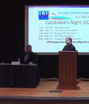 Five of six Tiffin City Council hopefuls participate in LWV candidates night