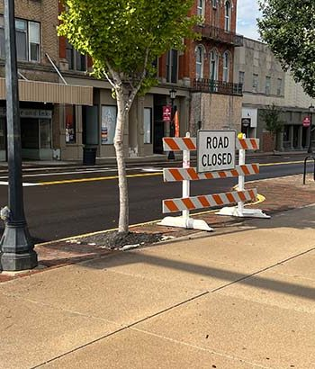 Portion of South Washington Street to be closed for road work starting Monday